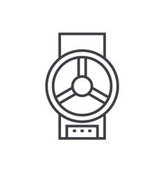 industrial valve line icon sig vector image