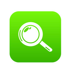 magnifier icon green vector image