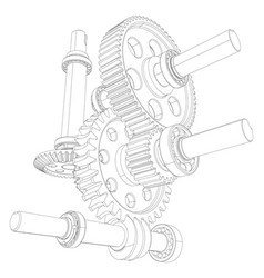reducer consisting of gears vector image