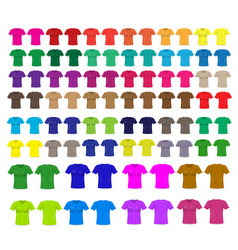 set of templates colored t-shirts vector image
