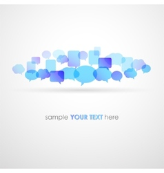 Speech bubble network background vector image