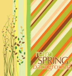 spring design background vector image vector image