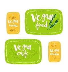 Vegan food labels vector image vector image
