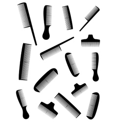background with many black comb vector image vector image