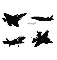 fighters set vector image vector image