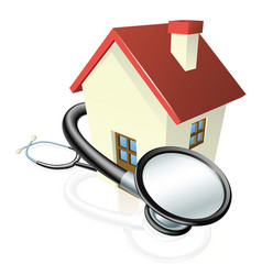 house and stethoscope concept vector image vector image