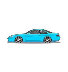 japan sport car side view vector image
