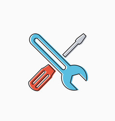 linear icon tools vector image vector image