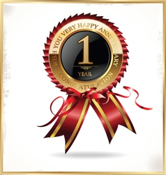 1 year anniversary label vector image vector image