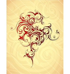 Artistic tattoo shape vector image vector image