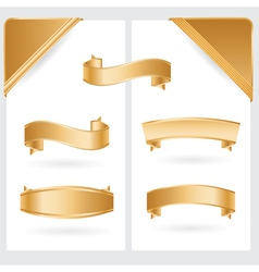 golden ribbons and corners vector image vector image