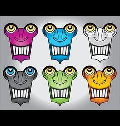 Happy smiling robot face design vector