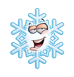 SnowFlake Emoticon Hey vector image vector image