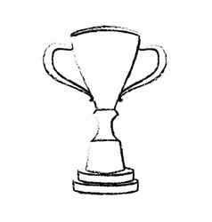 trophy winner competition award icon vector image vector image