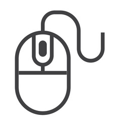 computer mouse line icon click and website vector image