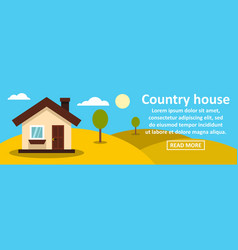 country house banner horizontal concept vector image