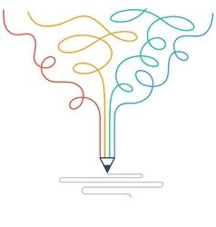 Creative writing storytelling vector image vector image