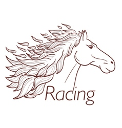 horse racing vector image vector image