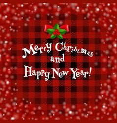 xmas card whit holly berry vector image vector image