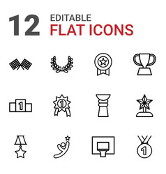 12 victory icons vector