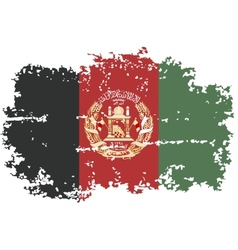 Afghanistan grunge flag vector