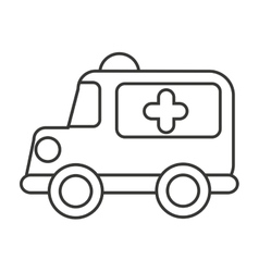 Ambulance emergency toy icon vector