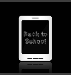 back to school of message in the smartphone vector image