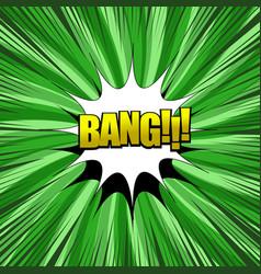Bang comic wording composition vector