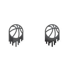 basketball gray symbol vector image
