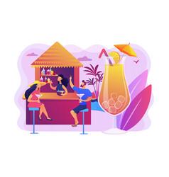 beach bar concept vector image