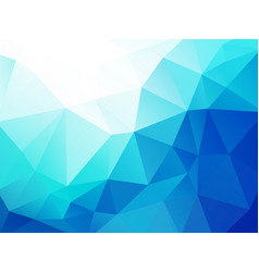 blue geometric wave abstract triangular background vector image