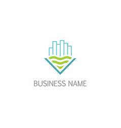 building eco apartment company logo vector image