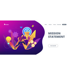 Business mission concept landing page vector