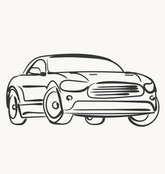 car simple modern automobile vector image