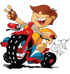 Cartoon rider vector