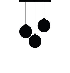 chandelier silhouette ball black vector image