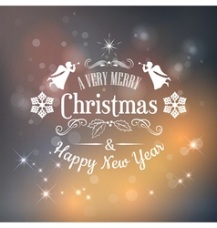 Christmas typography vector