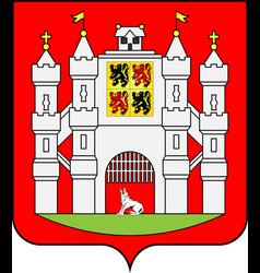 Coat of arms of mons in hainaut of belgium vector