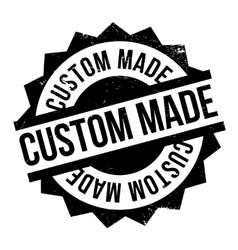 Custom Made rubber stamp vector image