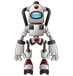 Cute cartoon robot isolated on a white background vector