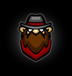 cute cowboy mascot logo cowboy icon vector image