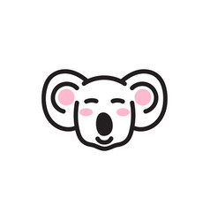 cute koala bear head icon vector image