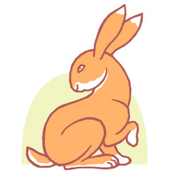 Cute sweet cartoon bunny vector