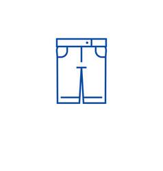 denim shorts line icon concept denim shorts flat vector image