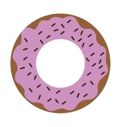 Donut glazed with sprinkles icon vector