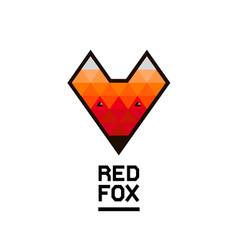 Faceted geometric fox logo vector