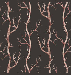 fall trees pattern vector image