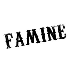 Famine rubber stamp vector