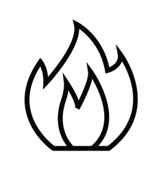 fire icon with outline line vector image