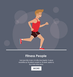 fitness people poster vector image